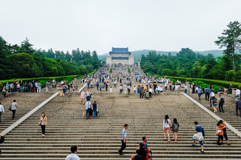 Sun Yat Sen's Mausoleum, only 399 steps to go :-)
