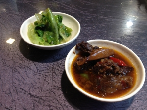 Beef Cheeks and Bok Choi