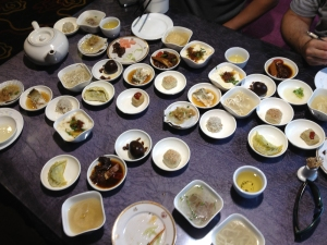 Just some of the 60 dishes
