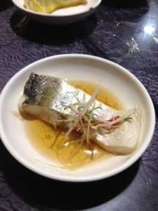 The best of the dishes - white fish from the Yangtze