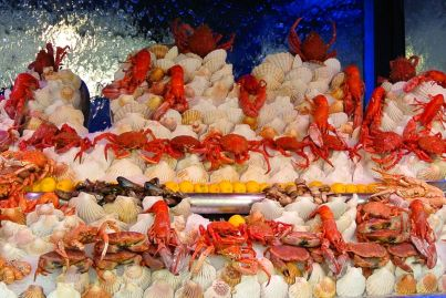 Amazing display of Seafood