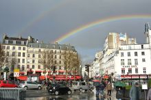 Rainbow over La Bastille