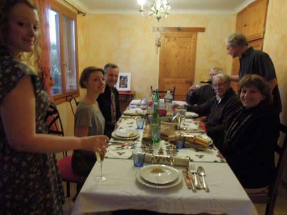International Christmas dinner - French, American and Irish