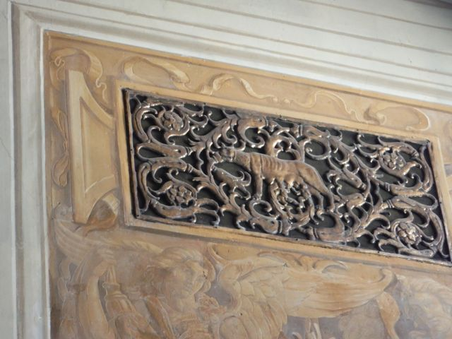 Romulus and Remus and the she-wolf covers on the heating vents