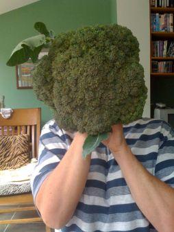Me and my giant broccoli head