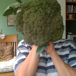 Me and my giant broccoli head